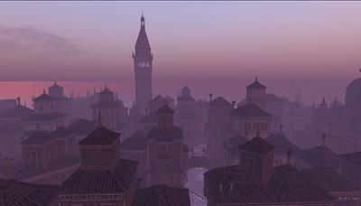 Venice Twilight Art Print