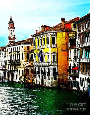 Art Print featuring the digital art Venice - Venezia by Ze  Di