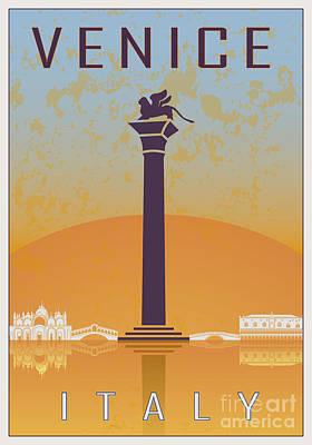 European City Digital Art - Venice Vintage Poster 01 by Pablo Romero