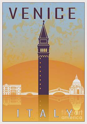 European City Digital Art - Venice Vintage Poster 02 by Pablo Romero