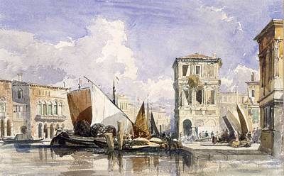 Venice Drawing - Venice by William James Muller