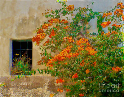 Digital Art - Mediterranean Window by Debra Chmelina
