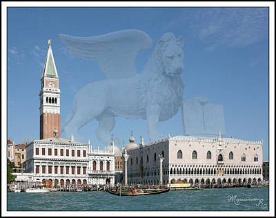 Photograph - Venice With The Lion Of Saint Mark by Mariarosa Rockefeller