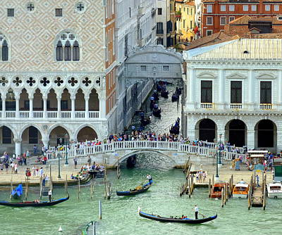 Photograph - Venice's Bridge Of Sighs by Carla Parris
