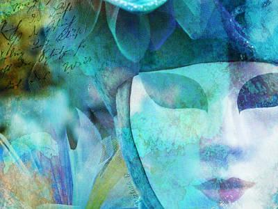 Art Print featuring the photograph Venitian Carnival - Mask by Barbara Orenya