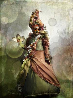 Photograph - Venitian Carnival-the Fall Muse by Barbara Orenya
