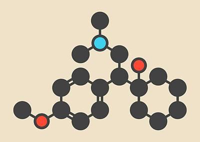 Venlafaxine Antidepressant Drug Molecule Art Print