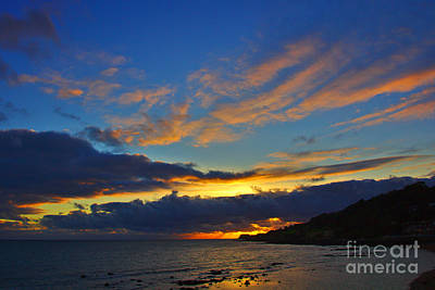 Photograph - Ventnor Sunset by Jeremy Hayden