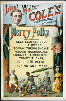 Ventriloquial Entertainment Print by British Library