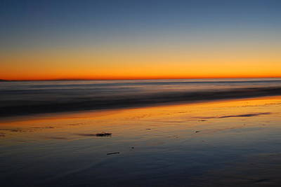 Ventura Beach Evening Art Print by Catherine Lau