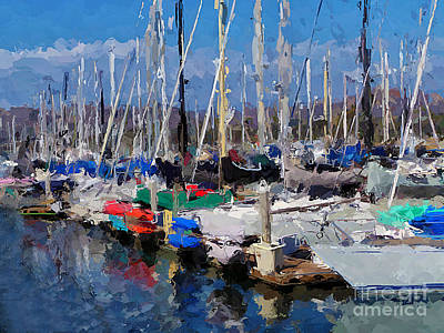 Mixed Media - Ventura Harbor Village by Andrea Auletta