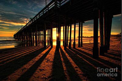 Ventura Pier At Sunset Art Print