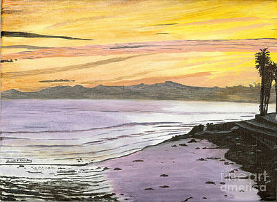 Painting - Ventura Point At Sunset by Ian Donley