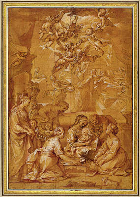 Wash Drawing - Ventura Salimbeni Italian, 1568 - 1613 by Quint Lox