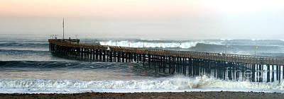 Ventura Storm Pier Art Print