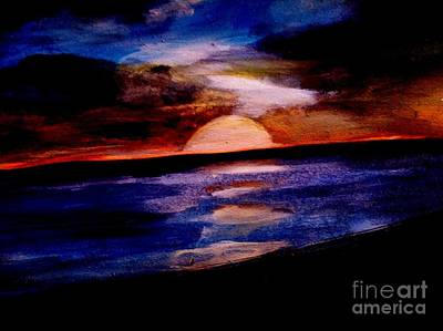 Ocean Painting - Ventura Sunset by Sandra Stone