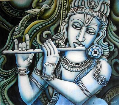Gopala Painting - Venugopala by Vishwajyoti Mohrhoff