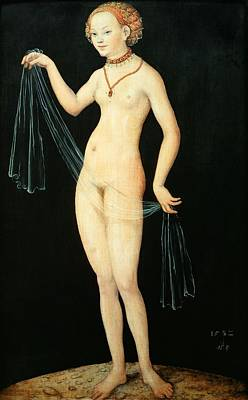 Goddess Mythology Painting - Venus by Lucas the Elder Cranach