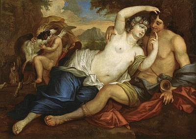 Greek Painting - Venus And Adonis by Jan Boeckhorst