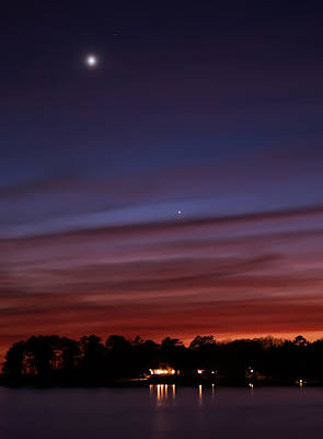 Photograph - Venus And Mercury by Charles Hite