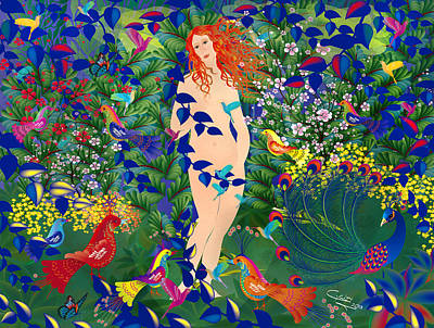Venus At Exotic Garden Art Print