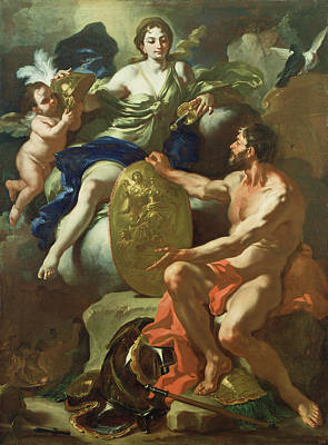 Vulcan Painting - Venus At The Forge Of Vulcan Francesco Solimena by Litz Collection