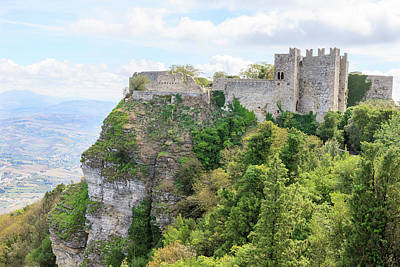 Erice Photograph - Venus Castle Norman Structure From 12th by Tom Norring