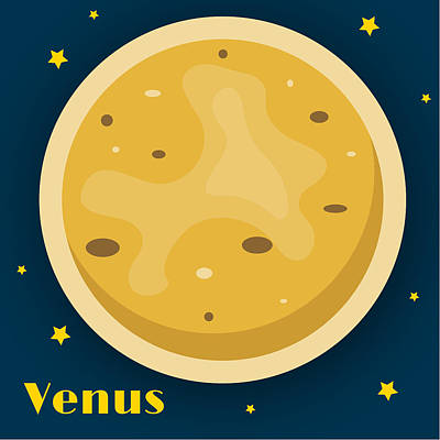Science Fiction Royalty-Free and Rights-Managed Images - Venus by Christy Beckwith