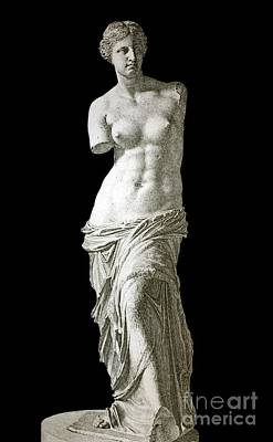 Venus De Milo Sculpture, 1880s Artwork Art Print by Bildagentur-online