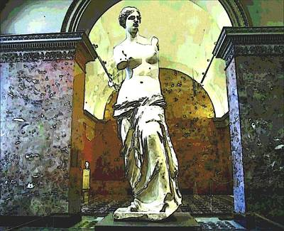 Photograph - Venus De Milo Up Close by Cathy Jourdan