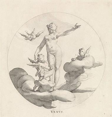 Venus Drawing - Venus, Egbert Van Panderen, Bartholomeus Spranger by Egbert Van Panderen And Bartholomeus Spranger And Frederik De Wit