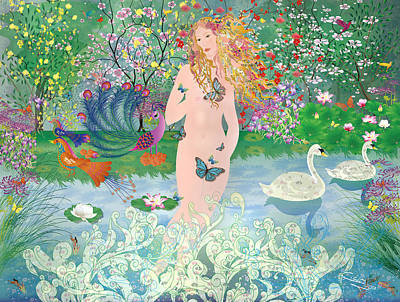 Mixed Media - Venus En Primavera by Gabriela Delgado