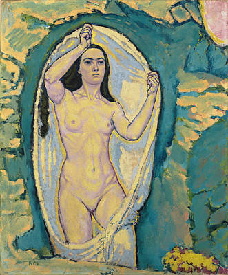 Goddess Of Beauty Painting - Venus In The Grotto by Koloman Moser
