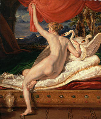 Swan Goddess Painting - Venus Rising From Her Couch Signed And Dated by Litz Collection