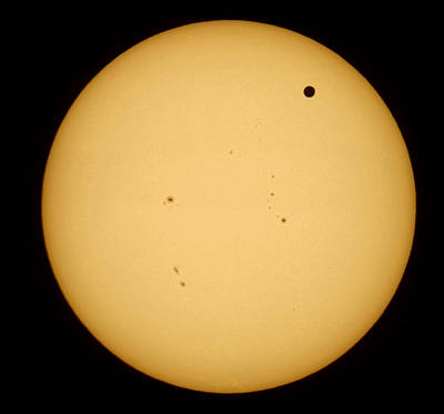 Print featuring the photograph Venus Transit by Jason Politte