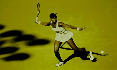 Wta Digital Art - Venus Williams In Action by Brian Reaves