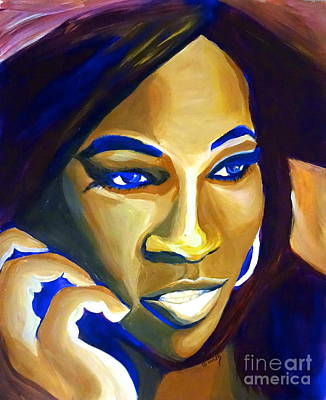 Venus Williams Painting - Venus Williams by LLaura Burge