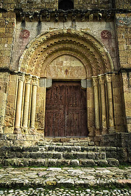 Medieval Temple Photograph - Vera Cruz Door by Joan Carroll