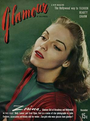 Woman Head Photograph - Vera Zorina On The Cover Of Glamour by Artist Unknown