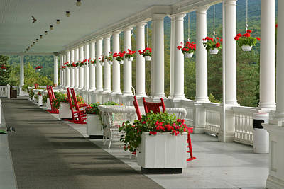 Photograph - Veranda Mt Washington Hotel by Gail Maloney