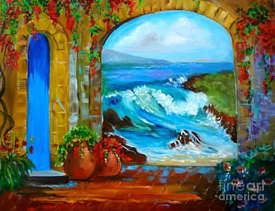 Veranda Ocean View Art Print