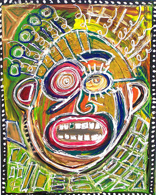 Popstract Digital Art - Verbal by Kamoni Khem
