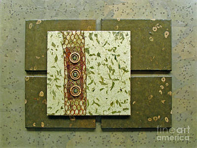 Mixed Media - Verdant by Phyllis Howard