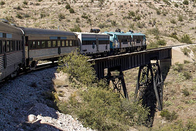 Photograph - Verde Canyon Railway On Trestle by Jim Moss
