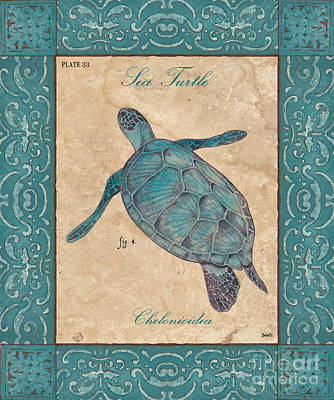 Turtle Wall Art - Painting - Verde Mare 4 by Debbie DeWitt