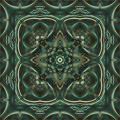 Digital Art - Verdigris Tile No 3 by Charmaine Zoe