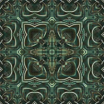 Digital Art - Verdigris Tile No 4 by Charmaine Zoe