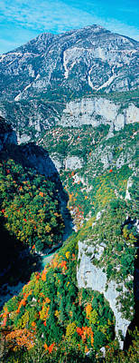 Verdon Gorge In Autumn Art Print by Panoramic Images