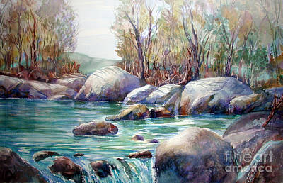 Painting - Verdon Gorge by John Mabry
