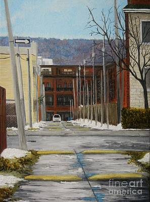 Quebec Painting - Verdun Lane by Reb Frost